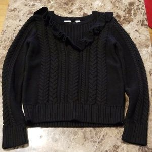 Girls Size 8M Black Sweater with Design